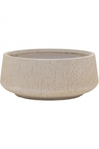 Кашпо raindrop bowl beige d44 h19 см