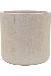Кашпо raindrop cylinder beige d42 h41 см