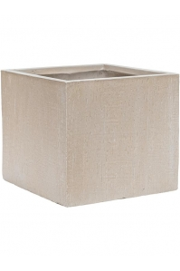 Кашпо raindrop cube beige l30 w30 h27 см