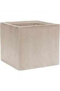 Кашпо raindrop cube beige l40 w40 h36 см
