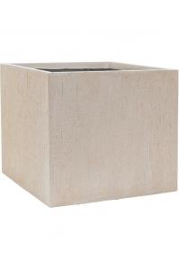 Кашпо raindrop cube beige l50 w50 h45 см