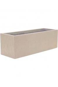 Кашпо raindrop rectangle beige l70 w23 h23 см