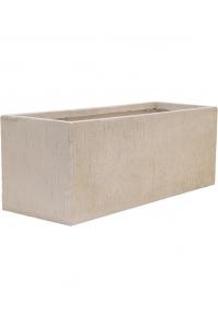 Кашпо raindrop rectangle beige l80 w30 h30 см