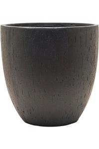 Кашпо raindrop couple pot black d44 h43 см