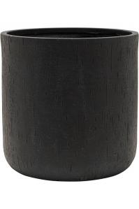 Кашпо raindrop cylinder black d42 h41 см