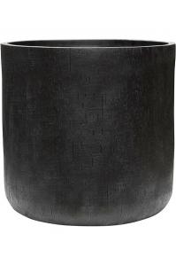 Кашпо raindrop cylinder black d51 h49 см