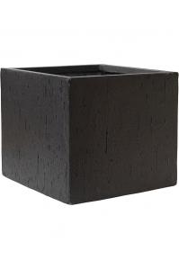 Кашпо raindrop cube black l30 w30 h27 см