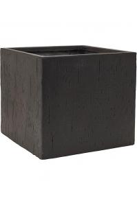Кашпо raindrop cube black l40 w40 h36 см