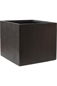 Кашпо raindrop cube black l50 w50 h45 см