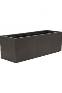 Кашпо raindrop rectangle black l70 w23 h23 см