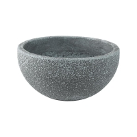 Кашпо sebas (concrete) bowl grey d50 h22 см