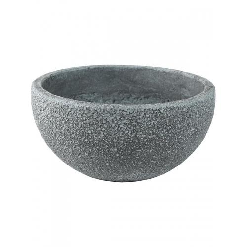 Кашпо sebas (concrete) bowl grey d50 h22 см