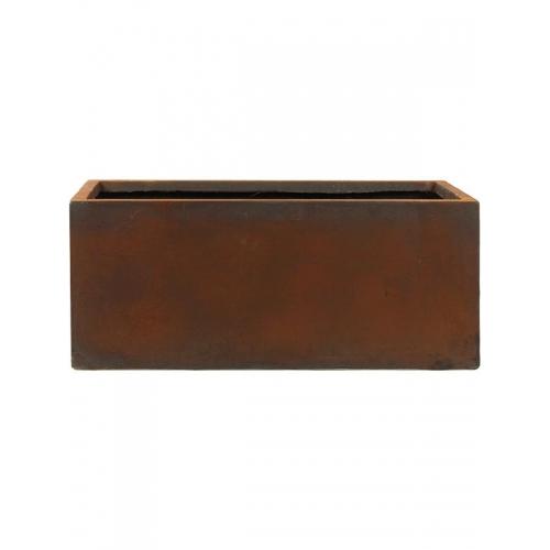 Кашпо static (grc) rectangle rusty l120 w37 h48 см