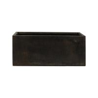 Кашпо static (grc) rectangle black l90 w37 h48 см