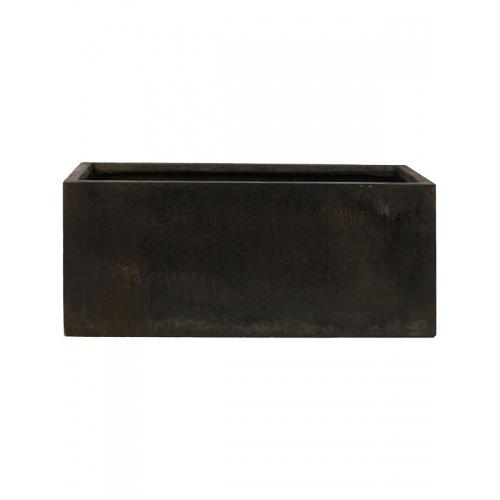 Кашпо static (grc) rectangle black l120 w37 h48 см
