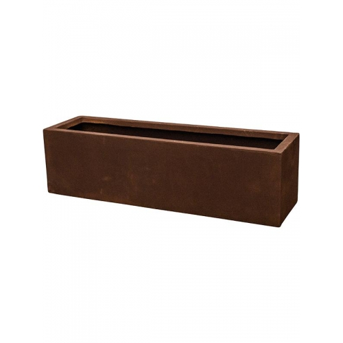 Кашпо static (grc) rectangle rusty l80 w22 h22 см