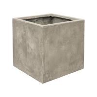 Кашпо static (grc) cube grey l43 w43 h43 см