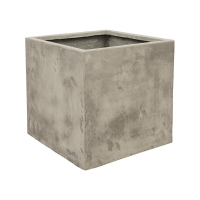 Кашпо static (grc) cube high grey l54 w54 h54 см
