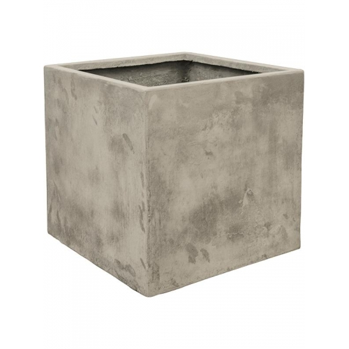 Кашпо static (grc) cube high grey l54 w54 h54 см