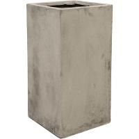 Кашпо static (grc) square grey l37 w37 h75 см
