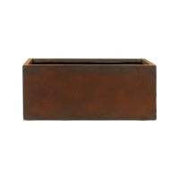 Кашпо static (grc) rectangle rusty l65 w22 h22 см
