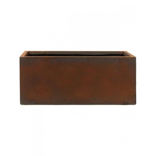 Кашпо static (grc) rectangle rusty l65 w22 h22 см