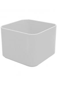 Кашпо multivorm / basic square structure ral 9007 grey aluminium l20 w20 h14 см