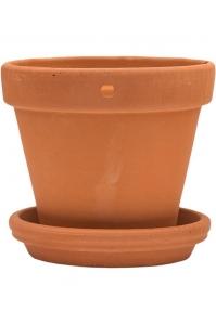 Кашпо terra cotta wall pot + поддон d13 h13 см