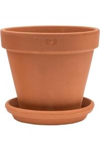 Кашпо terra cotta wall pot + поддон d19 h17 см