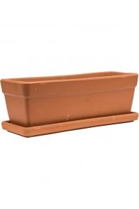Кашпо terra cotta set balcony box + поддон d49 w18 h17 см
