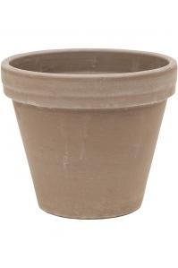 Кашпо terra cotta flowerpot grey d21 h18 см