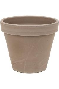 Кашпо terra cotta flowerpot grey d23 h19 см