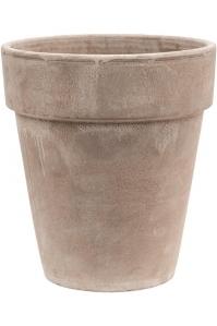 Кашпо terra cotta flowerpot grey d26 h29 см