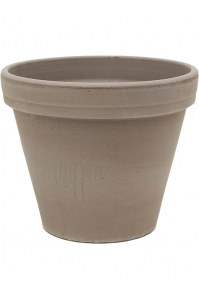 Кашпо terra cotta flowerpot grey d27 h23 см