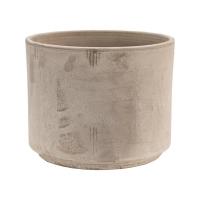 Кашпо terra cotta flowerpot grey d30 h25 см