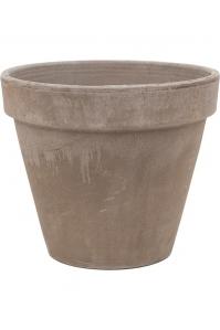 Кашпо terra cotta flowerpot grey d31 h25 см