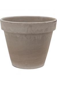 Кашпо terra cotta flowerpot grey d35 h31 см