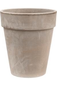 Кашпо terra cotta flowerpot grey d36 h40 см