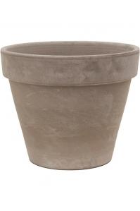 Кашпо terra cotta flowerpot grey d40 h34 см