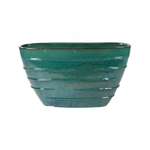 Кашпо turquoise oval (beauty) d90 l35 h50 см