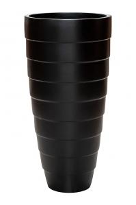 Кашпо unica partner rib high shine / mat ral: d37 h76 см