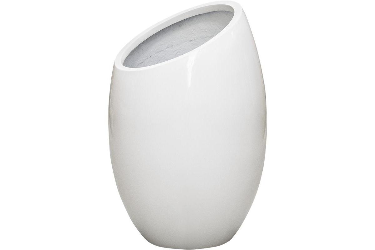Кашпо unica jigsaw glossy white l37 w37 h56 см