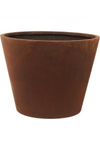 Кашпо unique (grc) couple straight conic rusty d56 h43 см