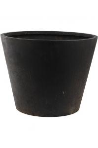 Кашпо unique (grc) couple straight conic black d42 h30 см