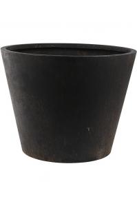 Кашпо unique (grc) couple straight conic black d75 h58 см