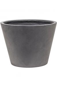 Кашпо unique (grc) couple straight conic grey d42 h30 см