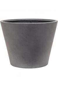 Кашпо unique (grc) couple straight conic grey d75 h58 см