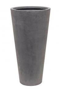 Кашпо unique (grc) partner grey d36 h70 см