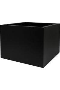 Кашпо up2u square matt black l53 w53 h40 см