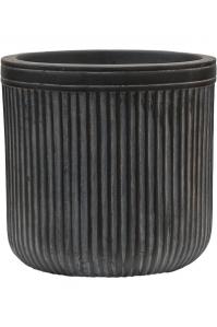 Кашпо vertical rib cylinder anthracite d23 h24 см